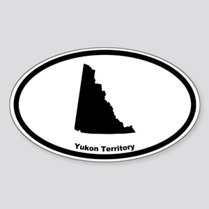 Yukon Territory Canada Outline Oval Sticker